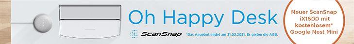 Fujitsu ScanSnap iX1600 Google Nest Mini Aktion