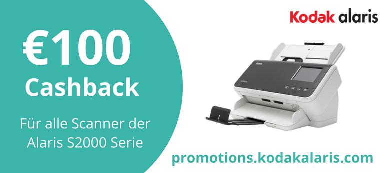 Kodak Alaris S2000 Scanner Cashback 2018