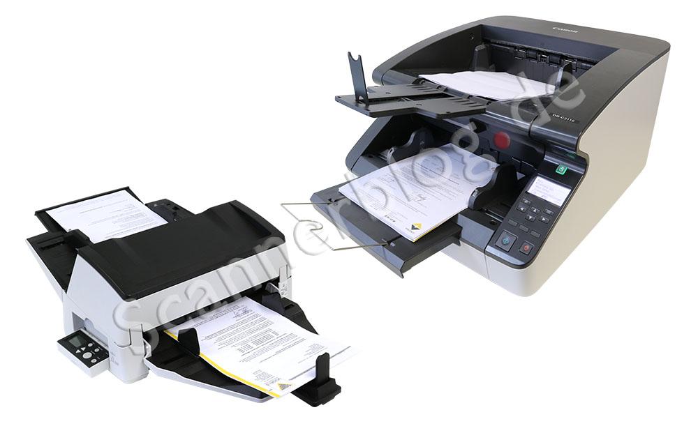 Fujitsu fi7600 oder Canon DR-G2110 Hochleistungsscanner testen